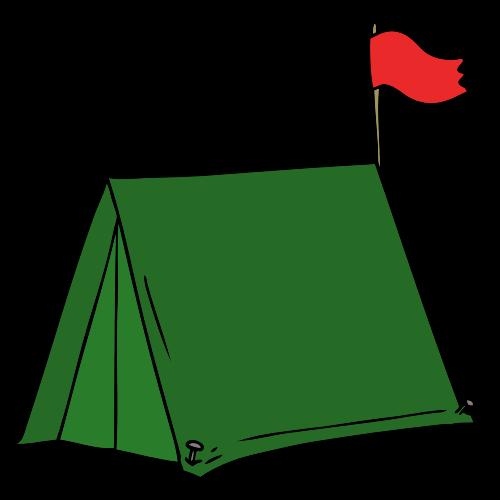 Tente de camping pour montrer les voies aériennes